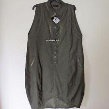 Damenkleider mit V-Ausschnitt aus Baumwollmischung in Übergröße