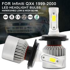 Car LED Headlight Bulbs Kit H4 9003 HB2 High Low Beam For Infiniti QX4 1999-2000