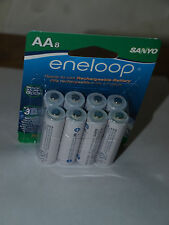NEW PANASONIC SANYO ENELOOP 8 pieces AA BK-3MCCA8BA BATTERIES 2000 MAH sealed
