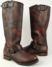 Frye 'Veronica Slouch' 2 Buckle Boots Dark Brown Size 7.5 B $368    (B13)