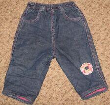 Denim Children's Place Size 9 Mo Elastic Waist w Pink Pull Up Jeans Pants - Cs