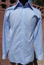 New Richard James Savile Row London Glitterati Blue Gradient Men's Size 16 Shirt