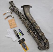 Prof. Taishan Antique Eb Baritone Sax Saxophone 2 necks Germany mouthpiece+Case