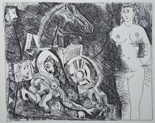 PICASSO (d'après) : Char romain avec écuyère - LITHOGRAPHIE signée #1200ex
