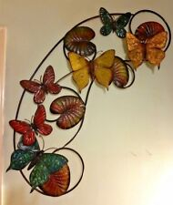 Metal Wall Butterfly Art Home Kitchen Indoor/Outdoor Patio Decor Room