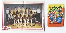 1980-81 Topps Basketball Pin Ups Lakers Team #8 & Wrapper Magic Johnson Rookie