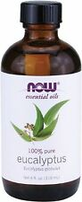 100% Pure NOW Solutions Foods Eucalyptus Oil 4oz. For Diffusers & Burners 07/21