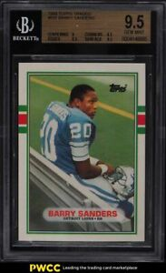 1989 Topps Traded Barry Sanders ROOKIE RC #83T BGS 9.5 GEM MINT