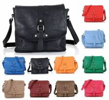 Buckle Faux Leather Outer Messenger & Cross Body Handbags