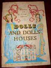 Vintage DOLL House Book Victoria Albert Museum Booklet 28 pics 50s