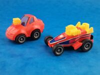 """Vintage Mini Pull Backs TAKARA PENNY RACERS x 2 1981 Working Action Approx 1.75"""""""