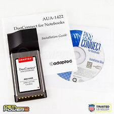 Adaptec AUA-1422 USB/IEEE 1394 FireWire CarBus Adapter Laptop PC Card PCMCI