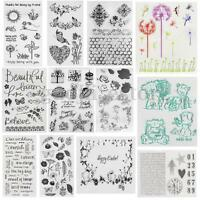 Silicone Rubber Flower Clear Stamp Seal Sheet DIY Scrapbooking Album Decor Craft