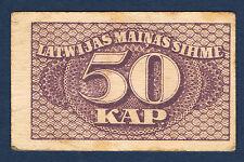 BILLET de BANQUE - LETTONIE - 50 KAP Pick n° 12 de 1920 en TTB dimension 55x35mm