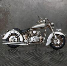 Blechmodell Motorrad 27cm groß silber Metallmodell Harley Bike Chopper Oldtimer