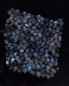 Al por Mayor 100% Natural Azul Piedra Luna Pera Cabujón Suelto Preciosa UYG41