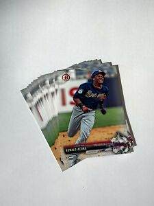 2017 RONALD ACUNA ROOKIE LOT OF 10 - BOWMAN DRAFT #BD-39 RC
