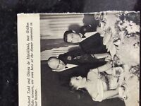 B1o  ephemera 1950s picture film star richard todd olivia de havilland