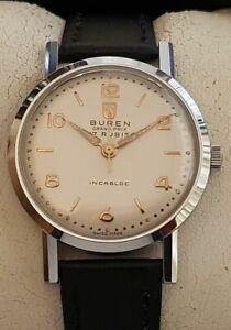 Vintage Armbanduhr Buren Grand Prix– Handaufzug – Cal. 1420 - NOS
