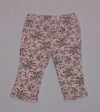 Vitamins Baby Pink Black Teddy Bear Floral Spray Toile Ruffled Pants, 9 mos.