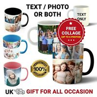 Personalised Mug Custom Photo Text Magic Collage Mothers Day Fathers Birthday