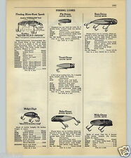 1952 PAPER AD Fishing Lure River Runt Fish Flesh Hot Shot San Luco King