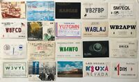 QSL Ham Radio Cards 1960s and 1980s USA + International (PostCards) Lot of 27
