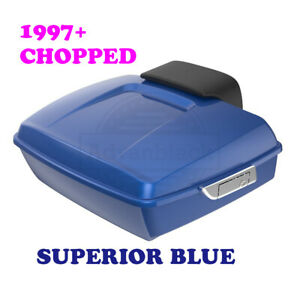 Superior Blue Chopped Tour Pack Pak Luggage fit 97-20 Harley Street Road Glide