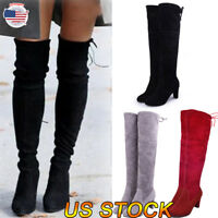 High Stilettos Heels Thigh Boots Over Knee Bandage Strap Slim Ladies Shoes New