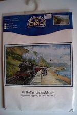 "DMC Counted Cross stitch kit ""By The Sea""  (En bord de mer) Train BK937"