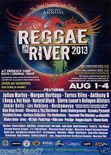 REGGAE ON THE RIVER 2013 HUMBOLDT COUNTY CONCERT POSTER: Julian Marley, J. Boog