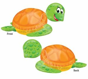 "Smiling Sea Turtle Birthday Jumbo 31"" inch SuperShape Foil Mylar Balloon"