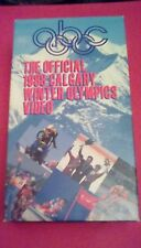 The Official 1988 Calgary Winter Olympics Video VHS Bonnie Blair Brian Boitano