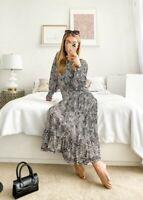 ZARA NEW LEOPARD FLOWING LONG DRESS SIZE S
