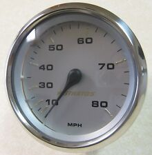 Faria Stratos Boat Gauge Speedometer 10 - 80 MPH SE9286C