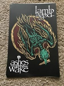 LAMB OF GOD  ASHES OF THE WAKE Poster 11x17 New