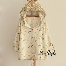 Japanese Harajuku Sweet Lolita Loose Print Jacket Short Coat Cardigan Blouse