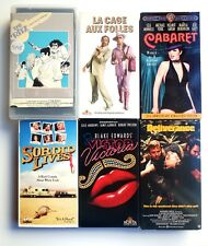 Gay Interest VHS Tape Lot Of (6) La Cage Aux Follies, Victor Victoria, Cabaret