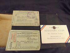 DC driver's license 1942 Registration card 1941 American Legion club card 1942