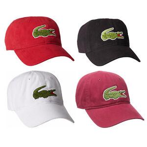 Lacoste Men's Classic Gabardine Cotton Big Croc Logo Adjustable Hat Cap