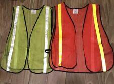 Xxl Adjustable Security Safety Vest w/ High Visibility Reflective Stripes