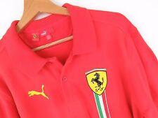 jy2301 PUMA Polo original ESCUDERIA FERRARI F1 ITALIA SF rojo raro talla M