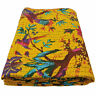 Hand Stitched Cotton Kantha Quilts Indian Bedspreads Throw Queen Bed Cover Gudri