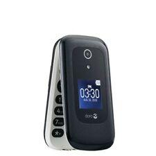 *NEW*DORO ANDROID TRACFONE FLIP PHONE BLACK 1200 MIN, TALK TEXT,DATA TIL 1 YR