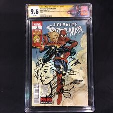 Avenging Spider-Man 9 CGC 9.6 Captain Marvel First Suit DeConnick Dodson Signed