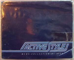 "Vintage 1984 Avon for Men ""ACTIVE STYLE CONVERTIBLE BELT GIFT SET"" -New, SEALED!"
