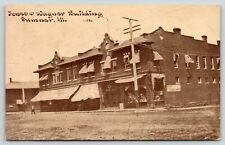 Sumner Illinois~Jones & Wagner Building~Groceries~Dentist~1914 CU Williams Sepia