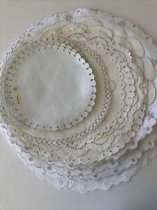 Madeira Marghab ?Linen Table Rounds  Embroidery Mixed Estate Lot Collection 30 p