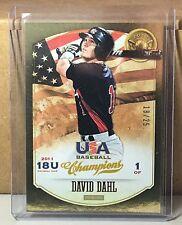 2013 PANINI USA GOLD MEDAL WINNER #27 DAVID DAHL COLORADO ROCKIES 18/25
