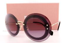Brand New Miu Miu Sunglasses MU 10R 10RS U6B5F1 Tansparent Purple For  Women